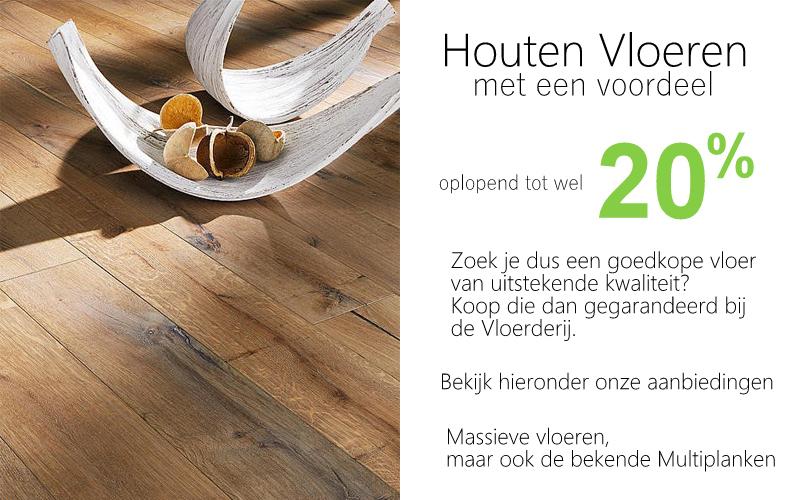 Goedkope eiken houten vloeren wel tot 20% voordeel of meer.
