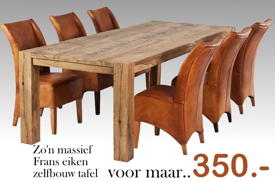 Massief Houten Tafel : Eikenhouten tafels super bourgondisch bij de vloerderij